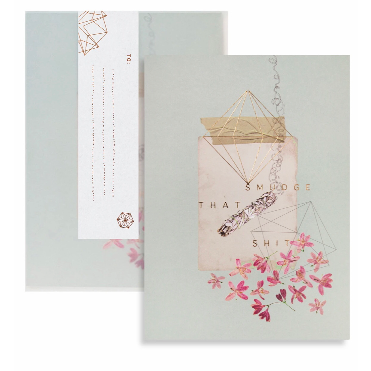 Smudge Greeting Card - PAC105