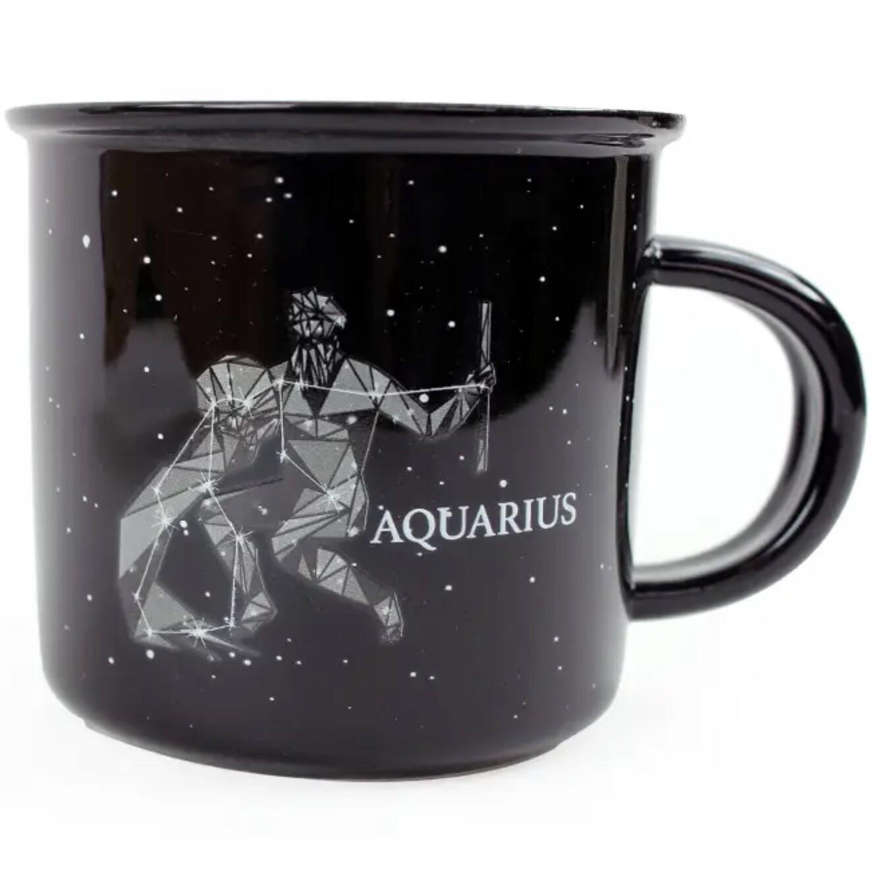 Aquarius Constellation Ceramic Camp Mug