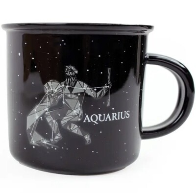 Aquarius Constellation Ceramic Camp Mug