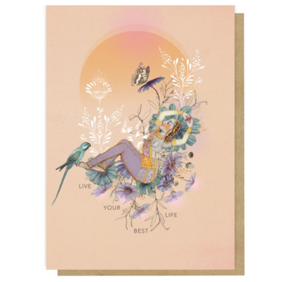 Live Your Best Life Greeting Card - PAC368