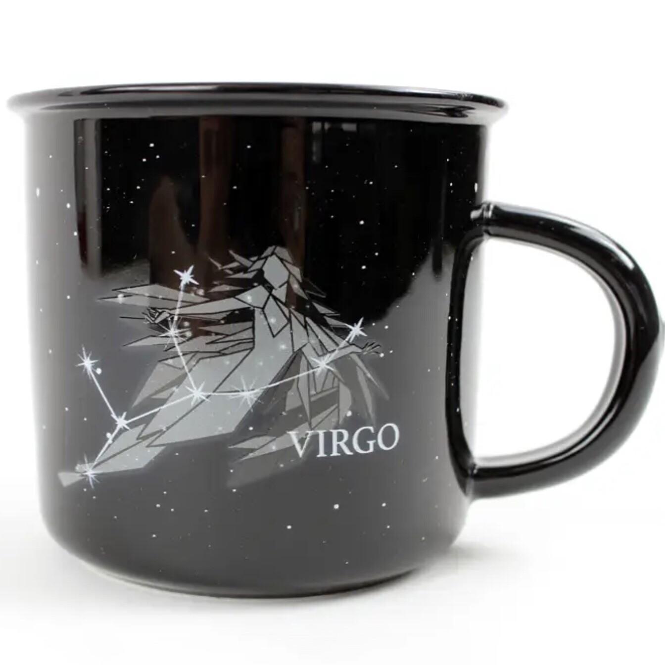 Virgo Constellation Ceramic Camp Mug
