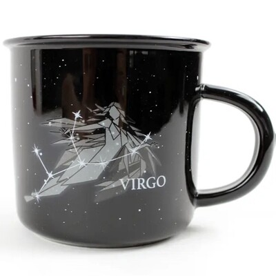 Virgo Constellation Ceramic Camp Mug