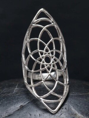 Sterling Silver Dreamcatcher Ring - RB13