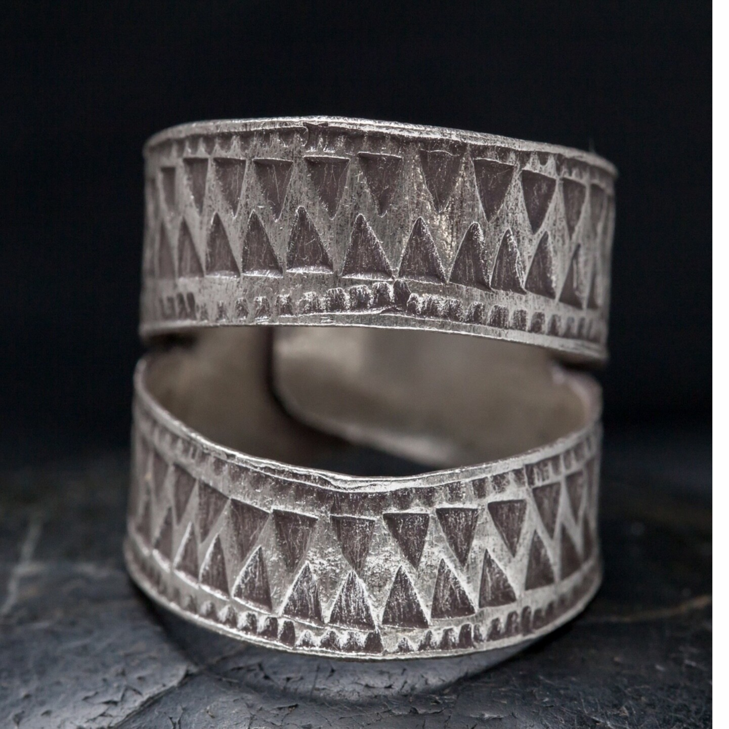 Hill Tribe Silver Open Band Ring - RB28