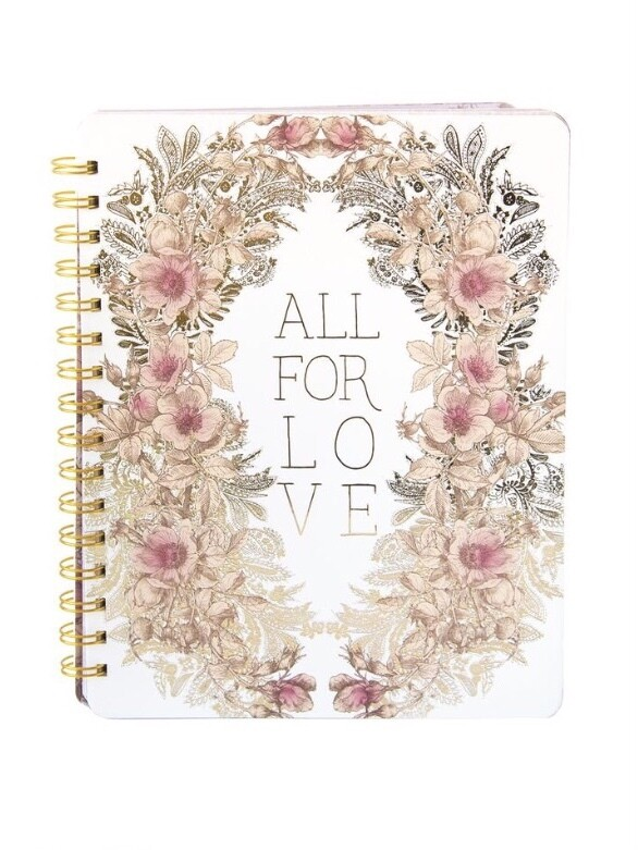 All For Love Spiral Notebook - PAN10