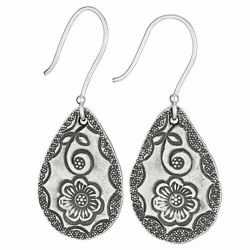 Hill Tribe Silver Teardrop Earrings - ETM4594