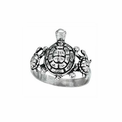 Sterling Silver Turtle Family Ring - RTM3211