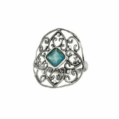 Sterling Silver Apatite Cocktail Ring - RTM4362
