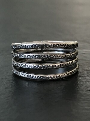 Hill Tribe Silver Four Tribes Ring - RAN4-2