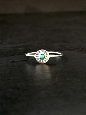 Petite Turquoise Starburst Ring - RB15