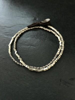 Hill Tribe Silver Double Wrap Bracelet - HTB6