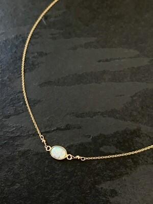 Opalescent Aphrodite Oval Necklace - GDFDLKN10