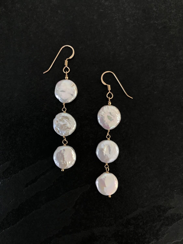 Venus Coin Cascade Dangle Earrings - GDFDE6