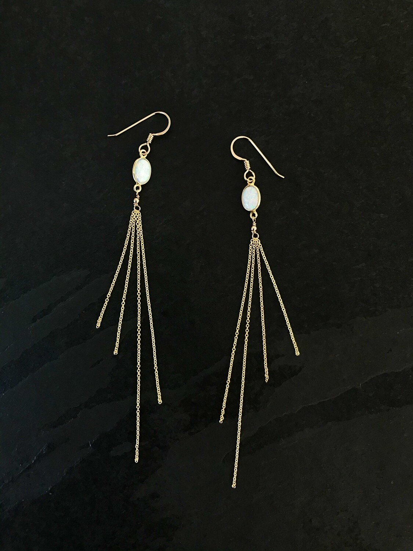 Opalescent Aphrodite Oval Earrings - GDFDLKE10