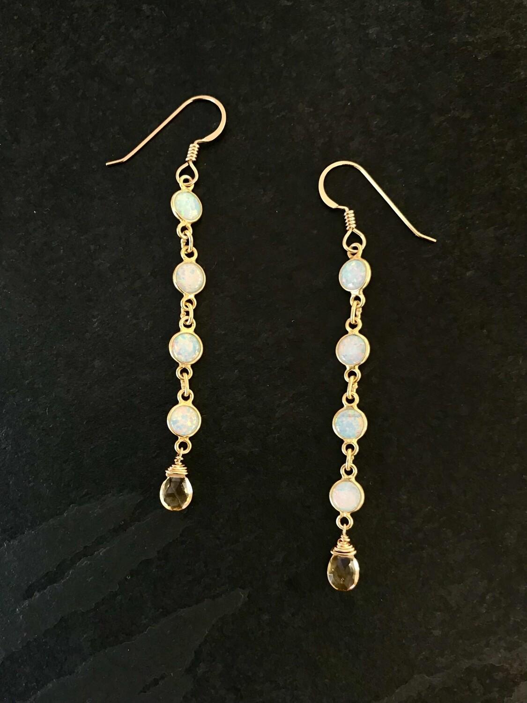 Opalescent & Citrine Aphrodite Earrings - GDFDLKE11