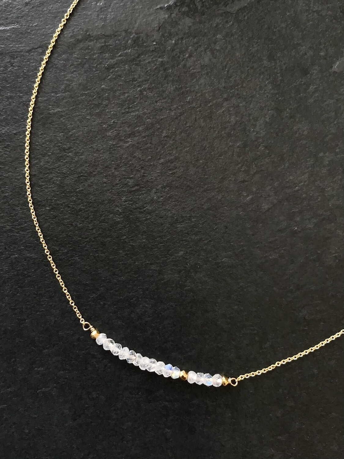 Moonstone & Pyrite Iris Necklace - GDFDSN6