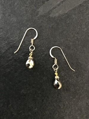 Pyrite Minerva Earrings - GDFDBE1-PYR
