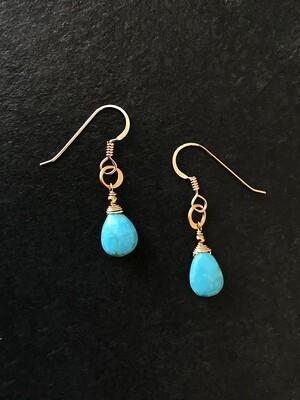 Turquoise & Circle Minerva Earrings - GDFDE4