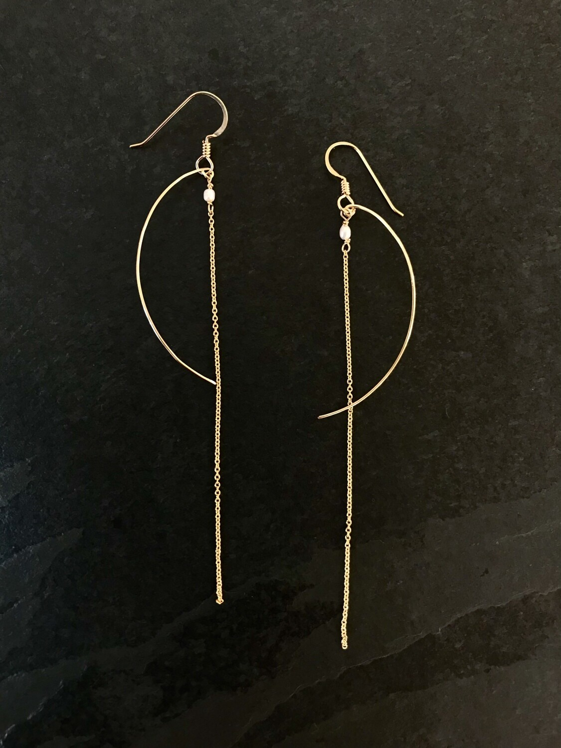 Venus Rice Pearl Gold-Filled Duster Earrings - GDFDVE20