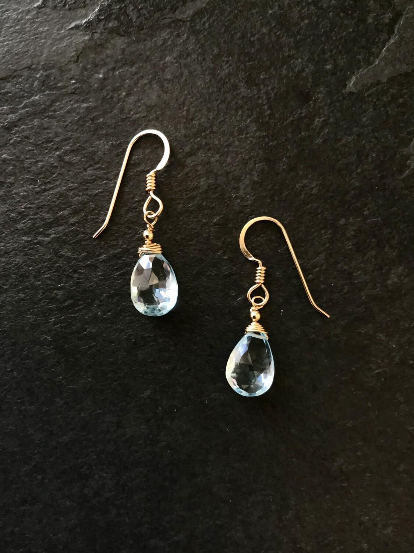 Blue Topaz Minerva Earrings - GDFDBE1 - BTO
