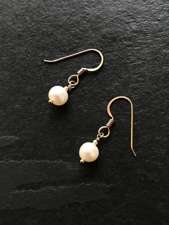 Venus Large Round Pearl Dangle Earrings - GDFDVE5