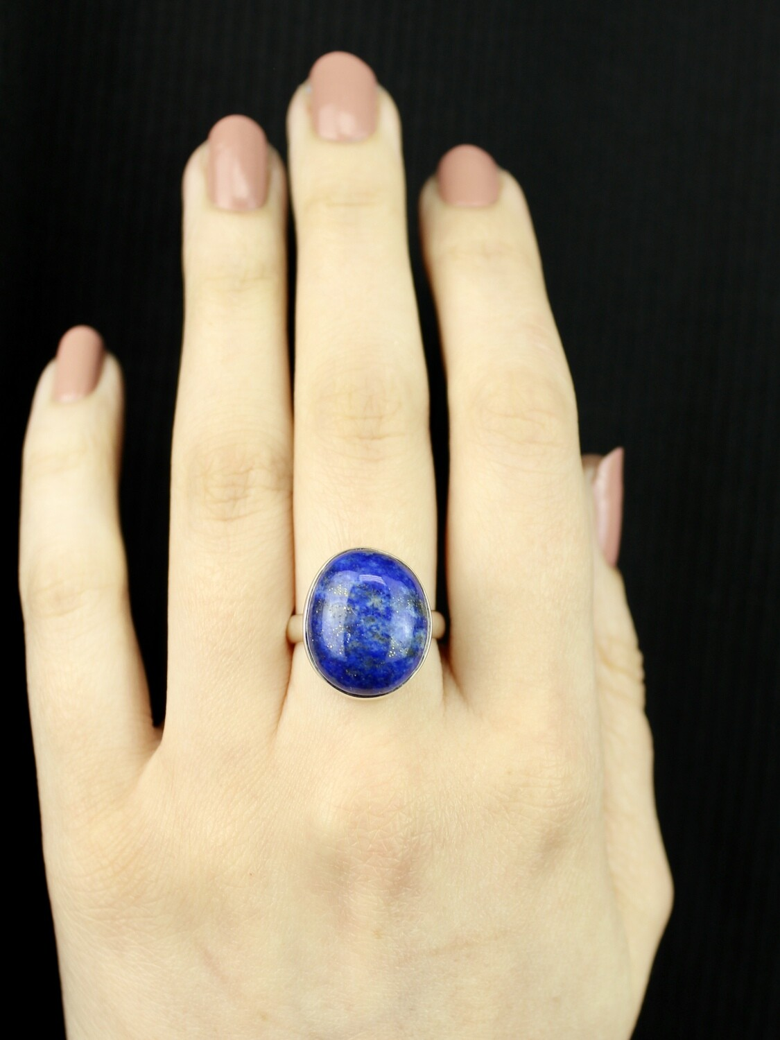 SIZE 7.25 - Sterling Silver Lapis Lazuli Ring - RIG7106
