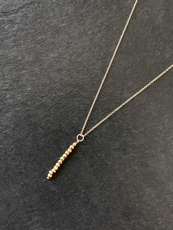 Gold Pyrite Phoebe Necklace - GDFDPN4