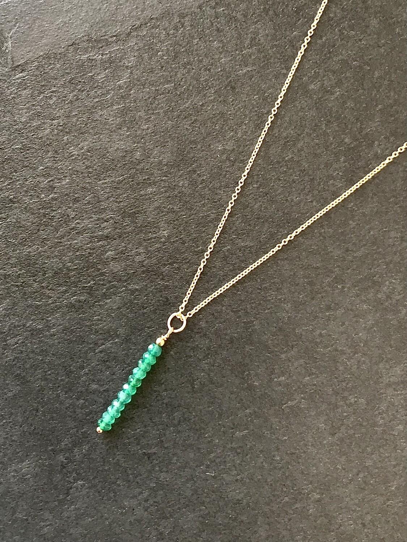 Green Onyx Phoebe Necklace - GDFDPN3