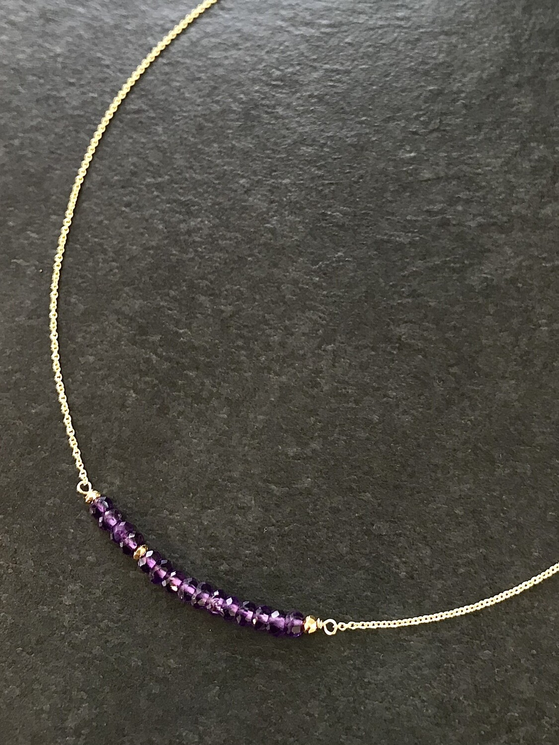 Amethyst & Pyrite Iris Necklace - GDFDSN2