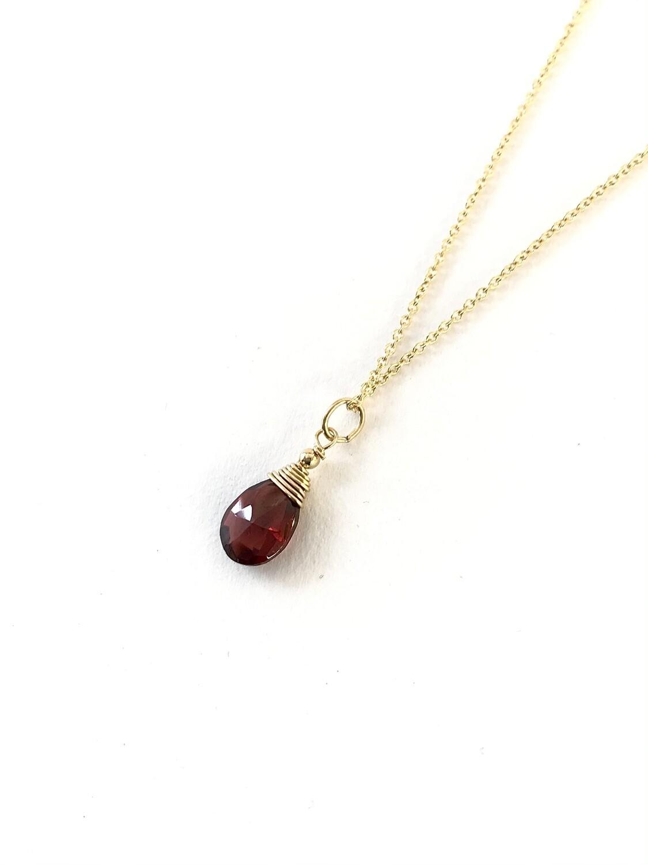 Garnet Minerva Gold-Filled Necklace - GDFDBN1 - GAR