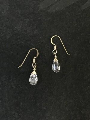 Tourmalated Quartz Minerva Earrings - GDFDBE1-TQZ