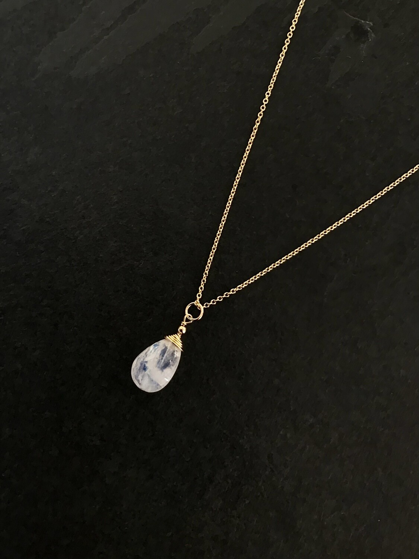 Rainbow Moonstone Minerva Necklace - GDFDBN1 - RM
