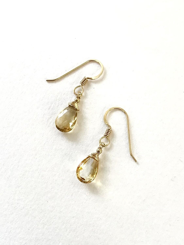 Citrine Minerva Earrings -GDFDBE1-CIT