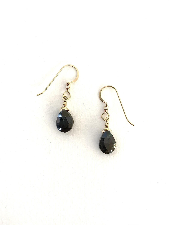 Black Spinel Minerva Earrings - GDFDBE1-BSP