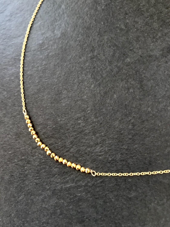 Pyrite Artemis Gold-Filled Necklace - GDFDSN18