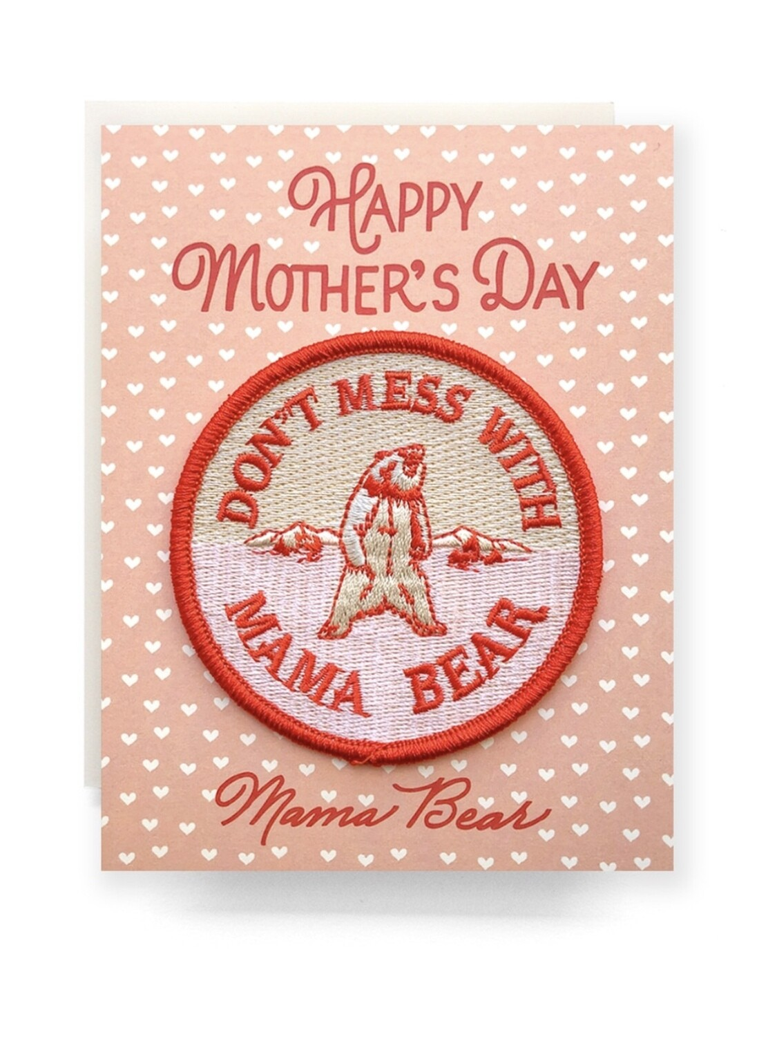 Mama Bear Mother's Day Patch Greeting Card - AQ11