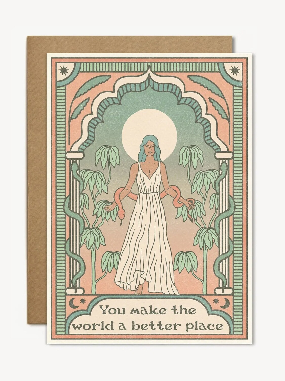 You Make the World Better Greeting Card - CJ13