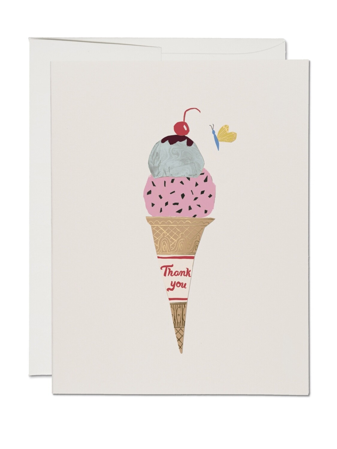Ice Cream Cone Thank You Greeting Card - RC75