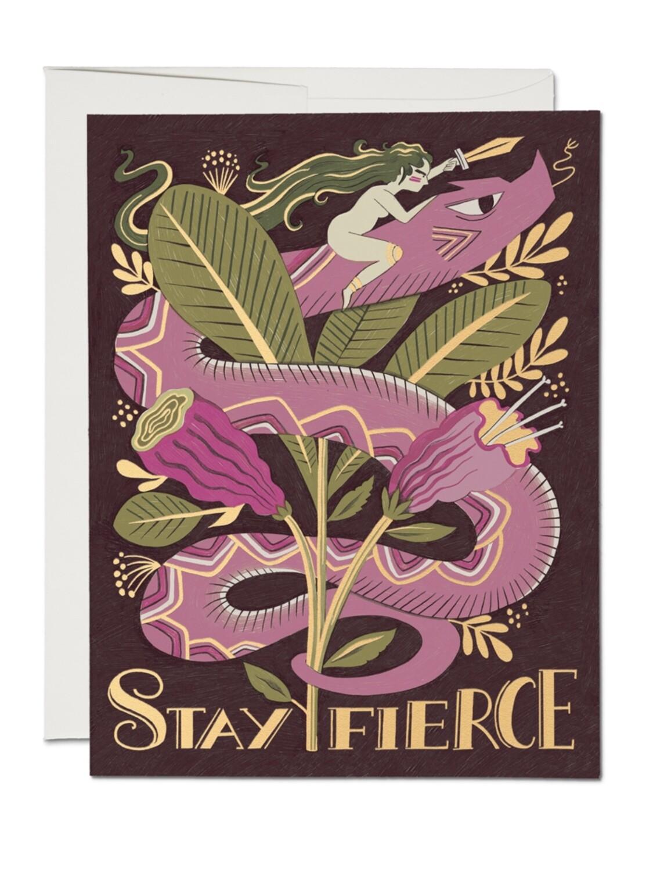 Stay Fierce Greeting Card - RC78