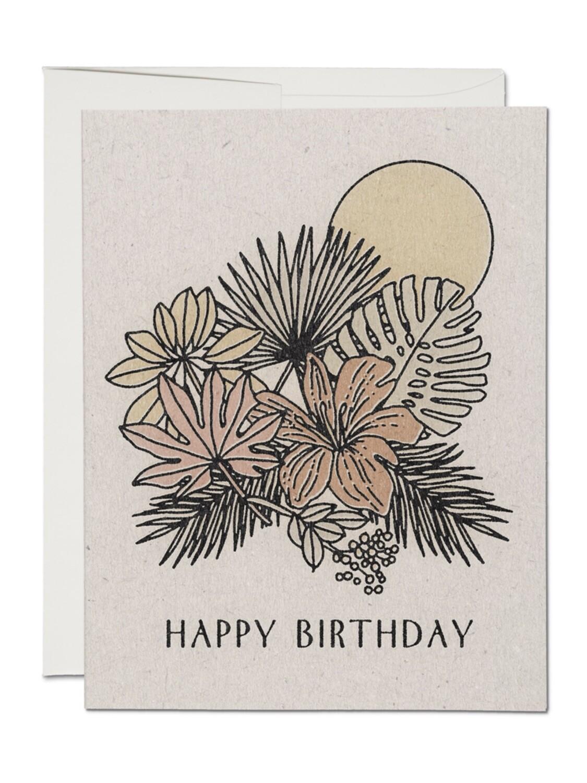 Tropical Birthday Greeting Card - RC74