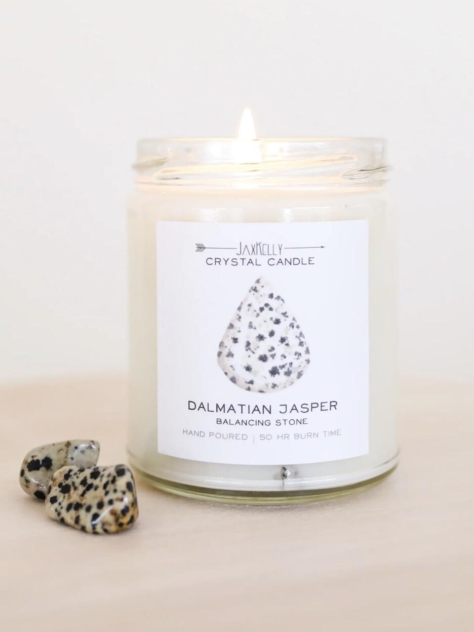 Crystal Candle - Dalmatian Jasper
