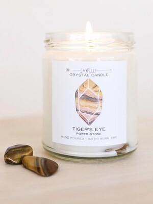 Crystal Candle - Tiger Eye