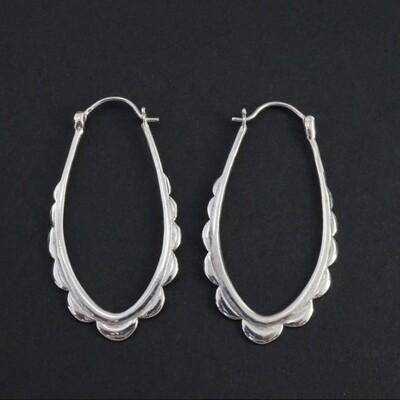 Mohana Hoop in Sterling Silver - IBE114