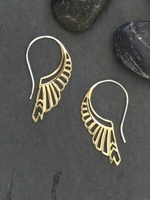 Huntress Earrings in Brass + Sterling Silver - IBE186