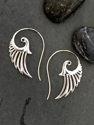 Wing Earrings in Sterling Silver - IBE55