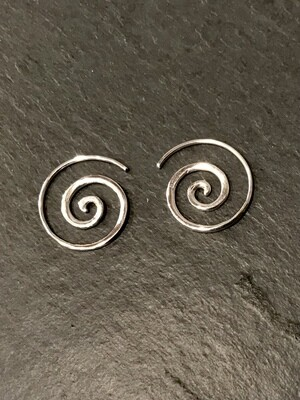 Little Spiral Hoops in Sterling Silver - IBE236