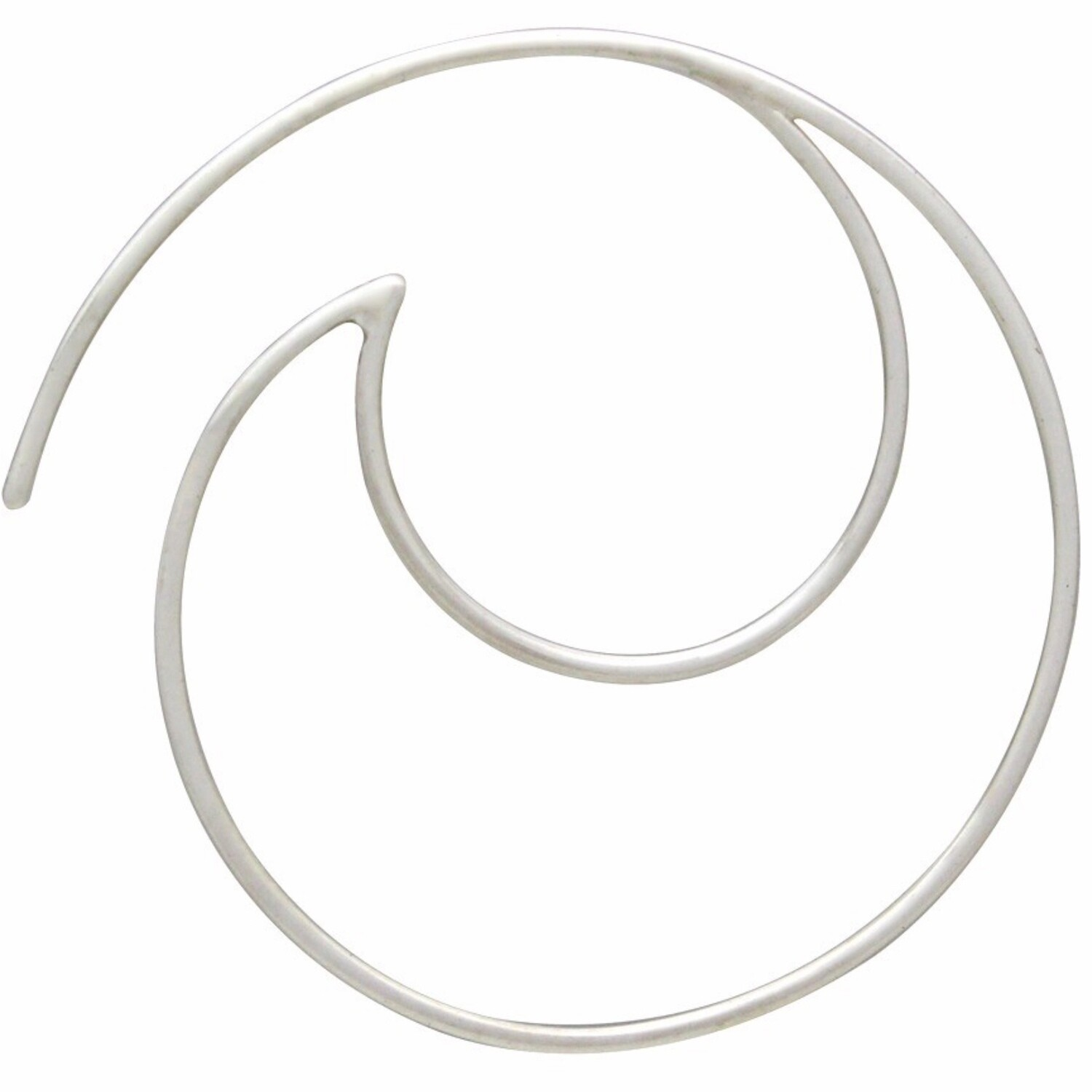 Sterling Silver Minimalist Crescent Hoops - H12-2999