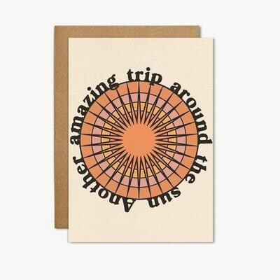 Another Amazing Trip Around the Sun Greeting Card - CJ14