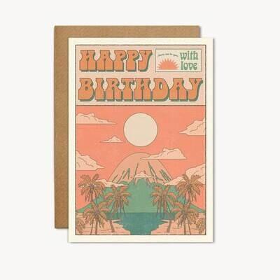 Happy Birthday - Mountain & Sun Greeting Card - CJ20
