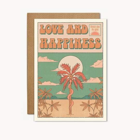 Love & Happiness Greeting Card - CJ19